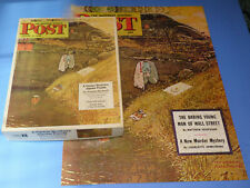 Vtg COMPLETE Assembled Norman Rockwell Saturday Evening Post Cover Jigsaw Puzzle