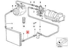 Genuine BMW E32 E34 Sedan AC Condenser Dryer Pressure Hose OEM 64538390473