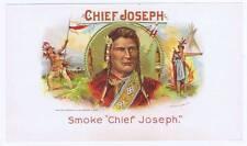 Chief Joseph, original inner cigar label, Chas Breneiser & sons native americans