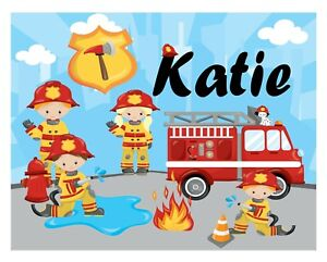 Personalised Fireman Kids A5 Jigsaw Puzzle - Great Gift