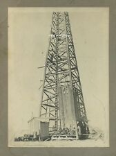 1919 - OIL derrick (wood) WELL - Mr. C. GOSS of Oklahoma took job in California