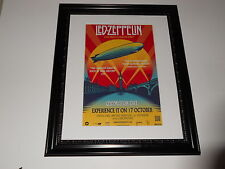 "Large Framed Led Zeppelin 2007 Celebration Day London Poster 24"" by 20"""