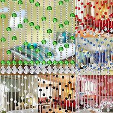 Crystal Bead String Curtain Room Door Window Divider Patio Fly Screen Home Decor