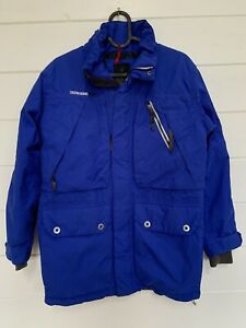 Didriksons Storm System Coat Warm Jacket Kids Size 150cm Blue