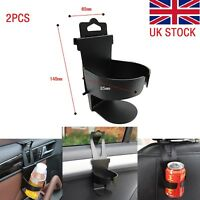 2pcs Portable Universal Car Truck Case Door Mount Drink Bottle Cup Holder Stand
