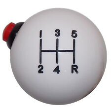 White 5 Speed 12 Volt Side Button shift knob M10x1.50 thd U.S MADE