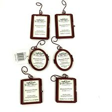 Lot Of 6 Red Metal Ornament Frames. Hinge Closer. 3 Styles
