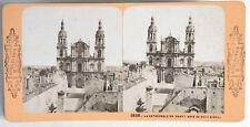 Nancy La cathédrale et la ville Photo Stereo Vintage Albumine c1870