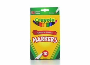 Crayola 58-7726 Classic Fine Line Markers Assorted Colors 10 Count, 2 Pack