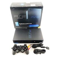 Sony PlayStation 2 Online Pack Fat w/ Network Adapter, Controller, Box Tested