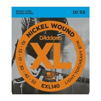 D'Addario EXL140 Nickel Light Top/Heavy Bottom Electric Guitar Strings 10-52