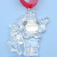 WATERFORD Crystal St. Nicholas Ornament NIB 2010 IRELAND CLEAR CHRISTMAS HOLIDAY