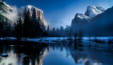 Lake Mountain Snow Nature Landscape HD POSTER