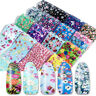 Paper 3D Nail Art Foils Nail Sticker Water Transfer Decal Nail Tips Mix Flowers