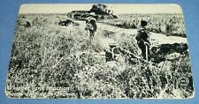 Antique Chicago Daily News War Dept Postcard Unposted Whippet Tank France Troops