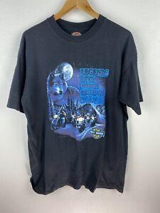 Vintage 1991 3D Emblem Harley Davidson Wolf Hawaii Mens T Shirt Size XL USA Made