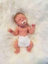 """Micro Mini Full Body Silicone Baby Girl 8"""" Reborn Doll Lifelike"""