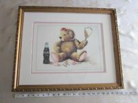 "Solomon Coca Cola Print Signed Numbered Framed ""Refreshing Up"""