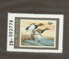 MT11 - Montana State Duck Stamp. Single. MNH. OG.