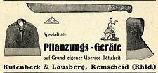 Rutenbeck & Lausberg Remscheid PFLANZUNGS-GERÄTE Historische Reklame von 1938