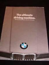 Vintage Automobile CAR BROCHURE for BMW, c1980 Lineup, 20 pg. Advertising