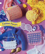"""4~Fashion Purses""~Annie's Crochet Pattern Only fits Barbie Fashion Doll~New"