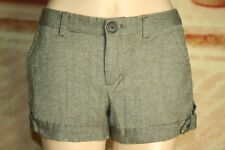 Womens Old Navy shorts ultra low waist wool blend lined size 2