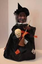 Vintage Animated Halloween Witch Holding Skull Talks Moves Vintage Halloween