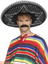 Smiffy's 26638 Deluxe Authentic Sombrero Black One Size