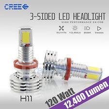 120W 12400LM CREE LED H11 Headlight Kit Low Beam Bulbs 6000K White High Power