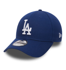 NEW ERA 39THIRTY FITTED CAP. LEAGUE ESSENTIAL LA DODGERS. ROYAL/WHITE