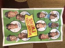 1969 Topps Team Posters #15 Minnesota Twins Poster Sheet Carew Harmon Killebrew