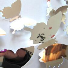 12pcs / set Specchio nastro 3D farfalla adesivi murali partito DecorWQTY