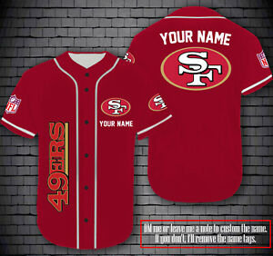 Personalized San Fancisco 49ers Fanmade Baseball Jersey Red