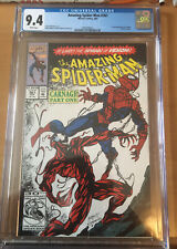 Spider-Man #361 CGC 9.4 NM White Pages 1st Appearance of Carnage! Venom 2 Movie