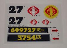 GI Joe Cobra BUGG Sticker Decal Sheet