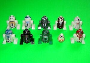 LEGO STAR WARS 10 DROIDEN - ASTROMECH R5-F7 - R3-D5 - R2-Q5 - R7-D4 - BB-8 =TOP!