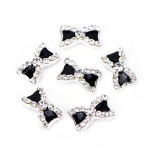 10X 3D Alloy Nail Art Decoration Bow Knot Glitter Rhinestones Manicure Jewelry.*