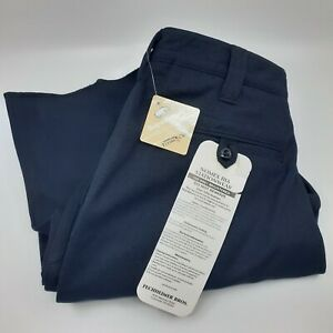 New Flying Cross Fashion Fit womens Navy uniform work pants size 10 Reg unhemmed