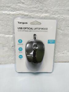 Targus AMU650 3-Button Optical Sensor USB Wired Laptop Mouse AMU80US