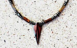 Arrow Pendant Magnetic Hematite Necklace BRONZITE Healing AAA+