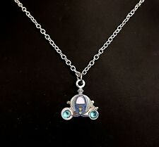 "Disney 18"" Necklace with Cinderella's Carriage Charm New in Package Retired"