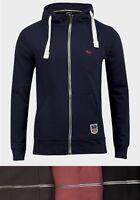 mens zip hoodie gym navy blue black red grey sweatshirt s m l xl brand new