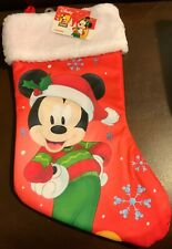 Disney Mickey Mouse Christmas Stocking  Free Shipping New