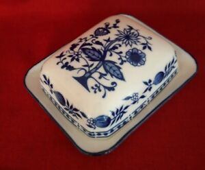 Butterdose Butterglocke  Zwiebelmuster Porzellan für 250gr Butter👍