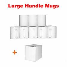 Sublimation Mugs 11oz 72 Large Handle White, Double Layer ORCA Coated Heat Press
