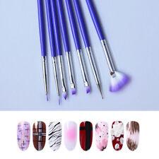 Brush Nail Polish Manicure Nail Art Professional Brosse À Ongles Tool 7Pcs/Set