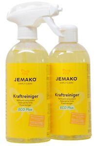 1 Liter JEMAKO Kraftreiniger ECO Plus 2 x 500 ml inkl. Sprühpumpe