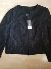 Ladies Black Lace Dorothey Perkins Jacket Size 12