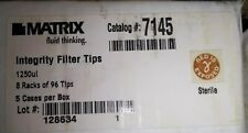 Thermo Matrix Cat7145 Integrity Filter Tips 1250ul 8 Racks Of 96 Tips 5 Boxcs